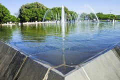 Fountain in Gorky Park, Moscow, Russia Stock Photo