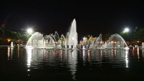 Fountain in Gorky Park, Moscow, Russia, East Europe stock video footage