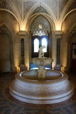 Fountain in gothic revival interiors in Monserrate palace, Sintra, Portugal. Fountain in gothic revival interiors in Monserrate palace in Sintra, Portugal stock photos