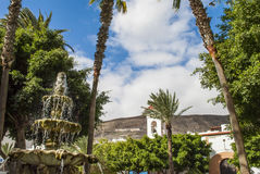 Fountain. In Gran Tarajal, Canary Island, Fuerteventura, Spain stock photos