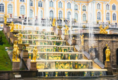 Fountain of Grand Cascade in Peterhof Royalty Free Stock Photos