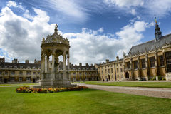 The Fountain, great Court, Trinity College Royalty Free Stock Image