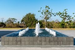 Fountain at the grounds at GWK royalty free stock photos