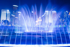 Fountain in Guangzhou Flower City Plaza stock images