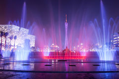 Fountain in Guangzhou Flower City Plaza Stock Photography