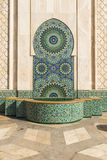 Fountain of Hassan II mosque Royalty Free Stock Photography