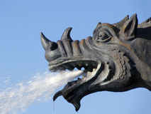 Fountain.Head of the dragon. Stock Photo