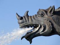 Fountain.Head of the dragon. Stock Photo