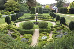 Fountain Hedge Maze. England. Village Stock Photos