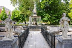 Hercules and Hydra fountain in the Royal Palace of Aranjuez, Spain Royalty Free Stock Photos
