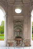 Fountain. Hofgarten, Pavilion Temple of Diana Wall fountain with wall sinks Munich Germany Royalty Free Stock Image