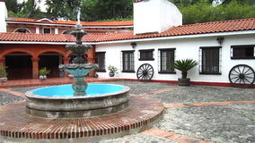 Fountain and Home in Central Mexico stock video footage