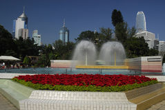 Fountain in Hong Kong Park Stock Photography