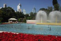 Fountain in Hong Kong Park. Hong Kong Island, Hong Kong, SAR, China Stock Photo