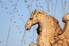 Fountain with a horse statue Stock Photography
