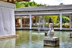 Fountain in Hotel Catalonia Royal Bavaro in Dominican Republic. Royalty Free Stock Photo