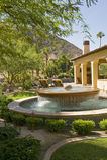 Fountain In House Garden Royalty Free Stock Photo