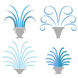 Fountain Icon Collection  Royalty Free Stock Images