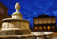 Fountain idella Pigna n the city of Rimini. Italy Royalty Free Stock Photos