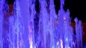 fountain illuminated night απόθεμα βίντεο