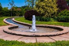 Fountain In Botanical Garden Stock Photos