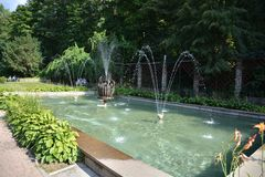 Free Fountain In Krynica Royalty Free Stock Image - 58442116