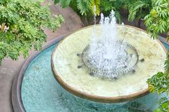 Free Fountain In The Garden Royalty Free Stock Photos - 43745658