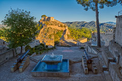 Free Fountain In Xativa Castle Of Spain At Sunset Stock Photos - 91723413