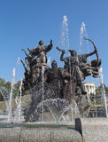 Fountain of the Independence square in Kiev. Ukraine Royalty Free Stock Images