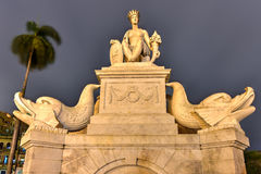 Fountain of the Indian Woman - Havana, Cuba. Indian Fountain or Noble Havana is a representation of the shape of the Indian or more exactly the aborigine habana Stock Images
