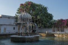 Fountain inside mughal garden Royalty Free Stock Photos