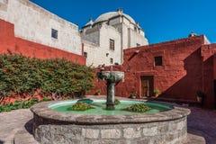 Fountain inside Santa Catalina monastery Arequipa Peru Stock Image