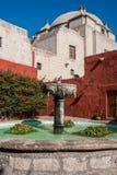 Fountain inside Santa Catalina monastery Arequipa Peru Royalty Free Stock Photography