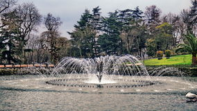 Fountain in Istanbul. Fountain in Emirgan park in Istanbul in march Stock Image