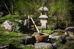 Fountain in the Japanese garden Royalty Free Stock Image