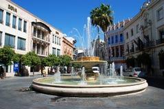 Fountain, Jerez de la Frontera. Fountain on the roundabout (Rotonda de los Casinos), Jerez de la Frontera, Cadiz Province, Andalusia, Spain, Western Europe Royalty Free Stock Photos
