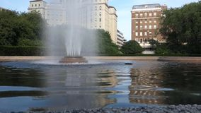 New York City Fountain stock footage