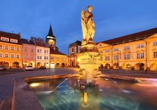 Fountain in Jicin Stock Image