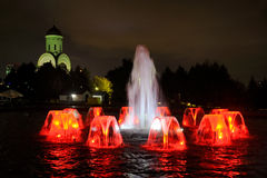 Fountain The Joy of Victory at Night - Poklonnaya Hill, Moscow Royalty Free Stock Images