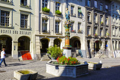 Fountain of Justice at the most visited street. BERN, SWITZERLAND - SEPTEMBER 13, 2015: Fountain of Justice at the most visited street in the Old Town. It is a Royalty Free Stock Photo
