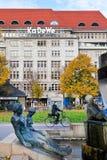 Fountain and KaDeWe store at Wittenbergplatz Stock Image