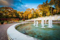 Fountain at Kadrioru Park stock photo