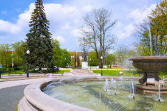 Fountain. Kaliningrad, Russia - may 5, 2015: the Fountain at the Drama theatre is a favorite place of recreation for the citizens of Kaliningrad Royalty Free Stock Photography