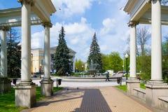 Fountain. Kaliningrad, Russia - may 5, 2015: the Fountain in the Park near Kaliningrad regional Drama theatre Stock Photos