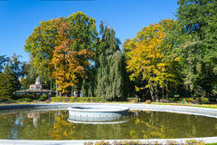 Fountain. In the Kaliningrad zoo in the fall Royalty Free Stock Photography