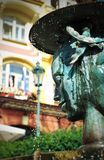 Fountain in Karlovy Vary royalty free stock image