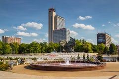 Fountain in Katowice, Poland Stock Image