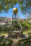 Fountain in the Katz'scher garden in Gernsbach Stock Photography