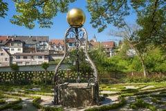 Fountain in the Katz'scher garden in Gernsbach Stock Photos