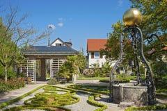 Fountain in the Katz'scher garden in Gernsbach Royalty Free Stock Photo